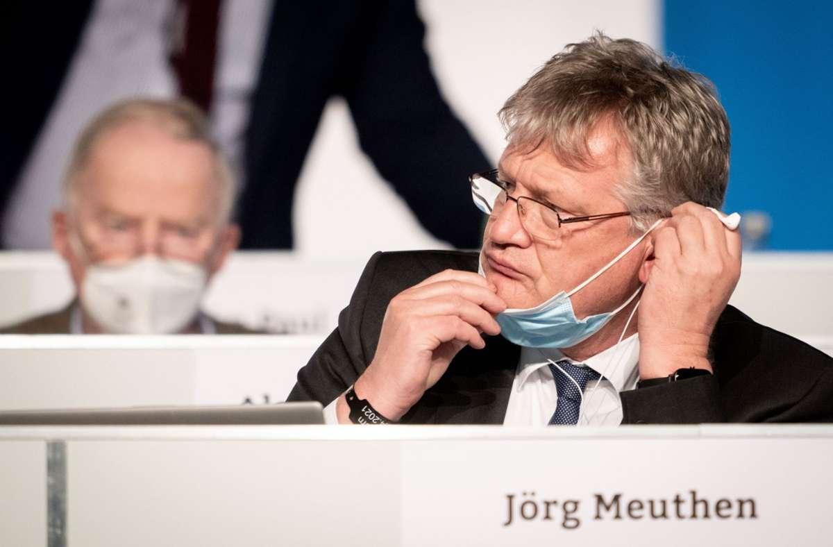 Jörg Meuthen (rechts), AfD-Bundessprecher, und Alexander Gauland, Fraktionsvorsitzender der AfD (Archivbild) Foto: dpa/Kay Nietfeld
