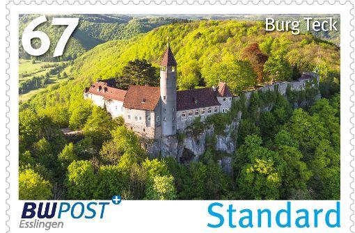 Burgen im Briefmarkenformat