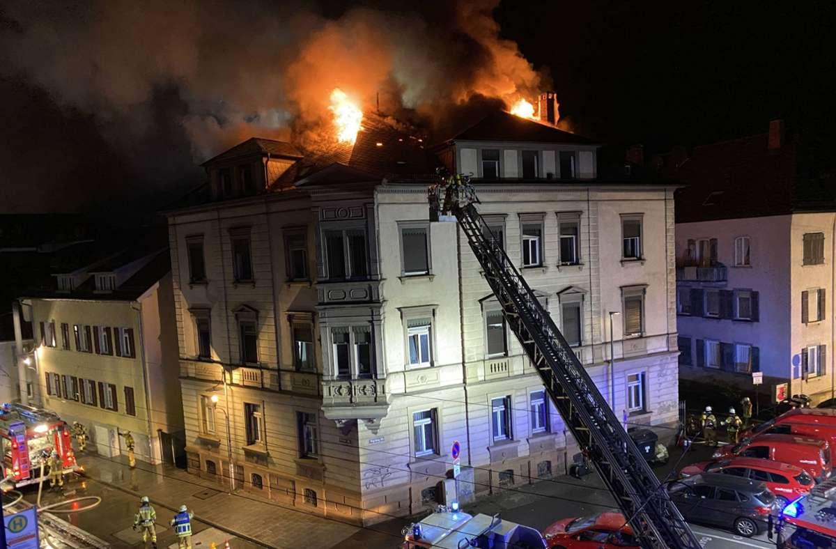 Schwerer Brand in der Esslinger Altstadt Foto: 7aktuell.de/Alexander Hald