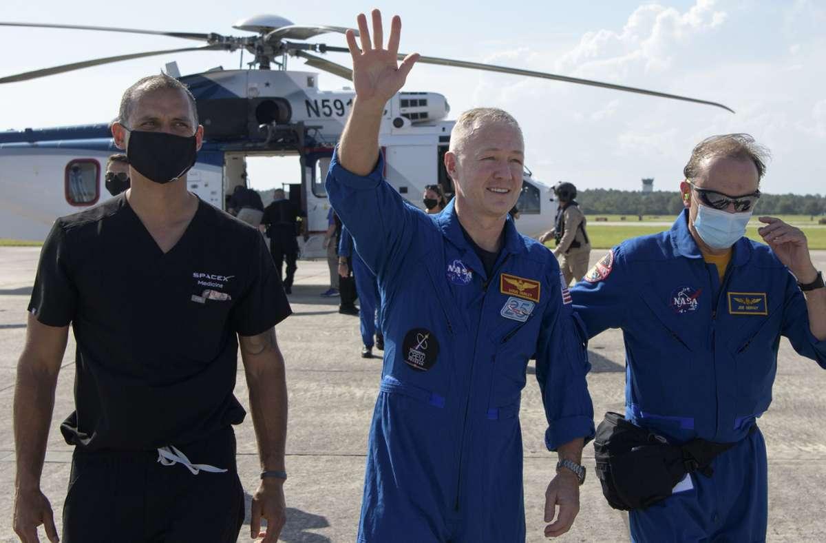 "Doug Hurley war der zweite Astronaut an Bord der ""Crew Dragon"". Foto: NASA/AP"