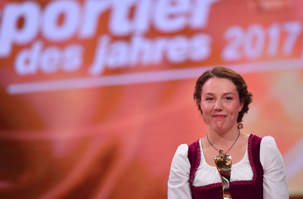 """Laura Dahlmeier ist die """"Sportlerin des Jahres"""" 2017 Foto: dpa"""