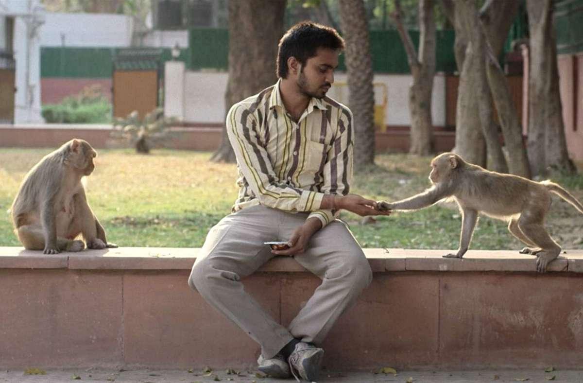 """Eigentlich soll Anjani die Affen von Delhi vertreiben im Spielfilm """"Eeb, Allay Ooo"""", doch das ist gar nicht so einfach. Foto: Festival"""