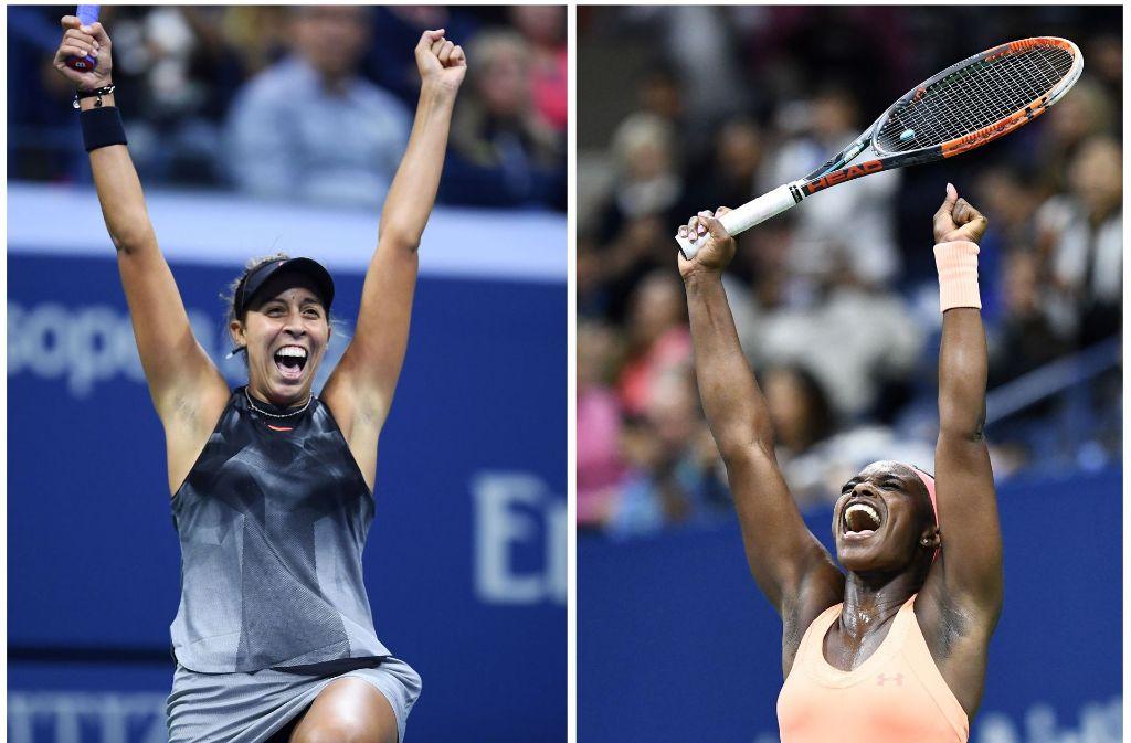 Madison Keys (links) und Sloane Stephens bestreiten das Damen-Finale bei den US Open. Foto: AFP