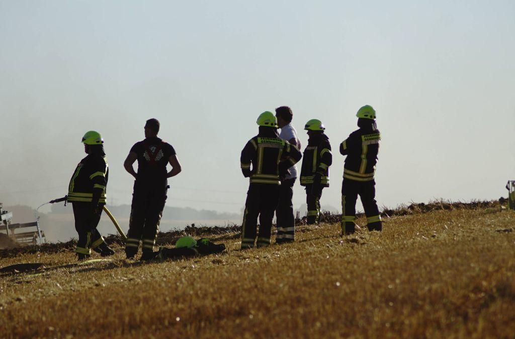 Die Feuerwehr, hier bei einem Einsatz in Eppingen, musste wegen eines Brandes auf einem Feld ausrücken. Foto: 7aktuell.de