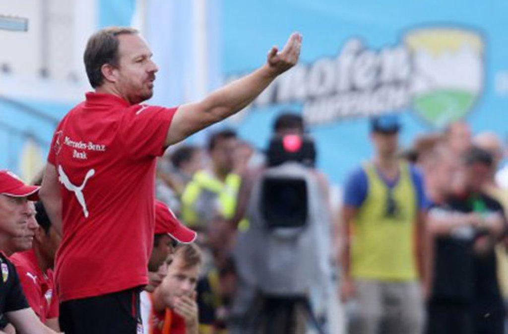Alexander Zorniger, der Trainer des VfB Stuttgart, ist ein Mann der klaren Worte. Foto: Pressefoto Baumann
