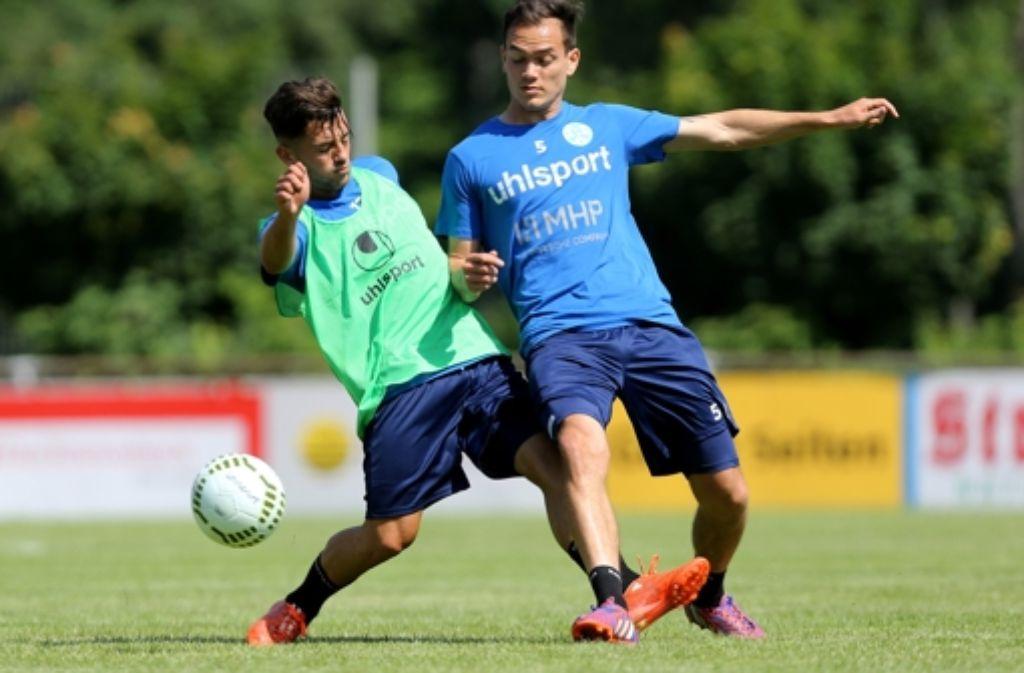 Besar Halimi (links) auf dem Absprung – zum FSV Mainz 05? Foto: Baumann
