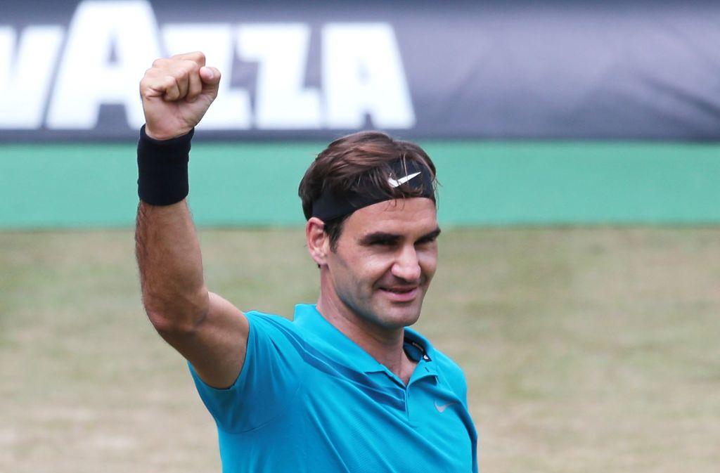 Roger Federer gelingt in Stuttgart ein optimales Comeback nach seiner freiwillig gewählten Wettkampf-Pause. Foto: Pressefoto Baumann
