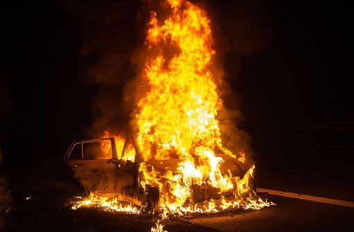 Mercedes brennt vollkommen aus