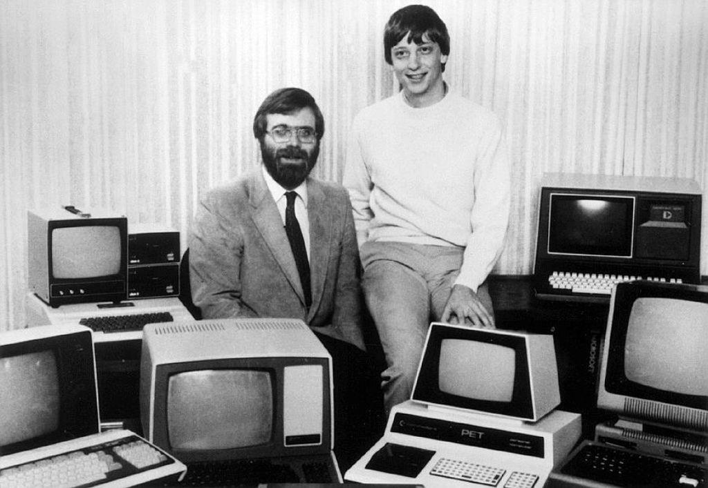 Computer und Internet, das ist was für junge Leute: Paul Allen und Bill Gates, 1981. Foto: dpa