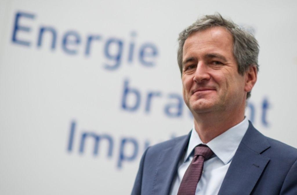 Vorstandsvorsitzender der EnBW Energie Baden-Württemberg AG, Frank Mastiaux, stellt in Stuttgart die Zukunftspläne des Unternehmens vor. Foto: dpa