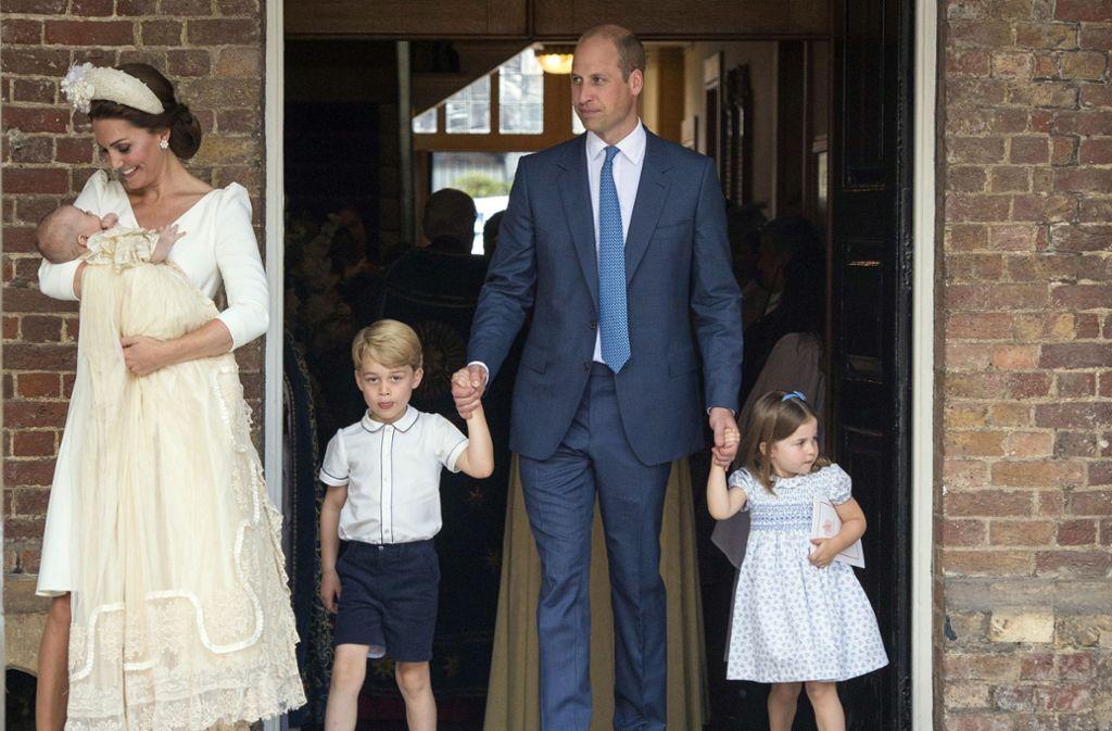 Prinz William und Herzogin Kate haben selbst drei Kinder: George, Charlotte und Louis. Foto: AP/Dominic Lipinski
