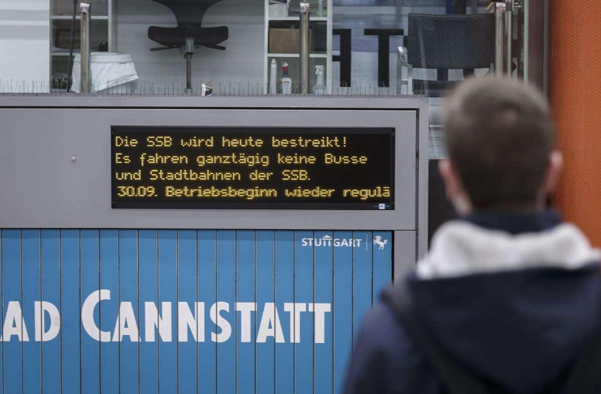 Nichts geht mehr – zumindest bei Bussen und Stadtbahnen. Foto: LichtgutJulian Rettig