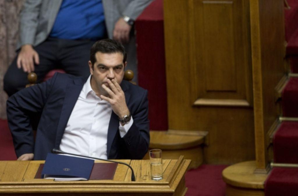 Der griechische Premierminister Alexis Tsipras muss Reformen umsetzen, um Finanzhilfen der Euroländer zu bekommen. Foto: AP