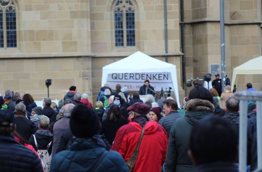 Querdenker in Heilbronn geben sich distanziert