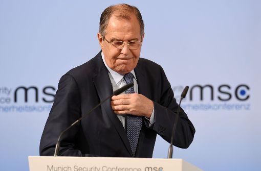 """Lawrow sieht Nato als """"Institution des Kalten Kriegs"""""""