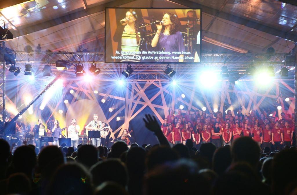 Beim Pfingstjugendtreffen in Aidlingen erwarten die Veranstalter auch in diesem Jahr wieder mehr als 10.000 junge Christen. Foto: Diakonissenmutterhaus Aidlingen e. V.