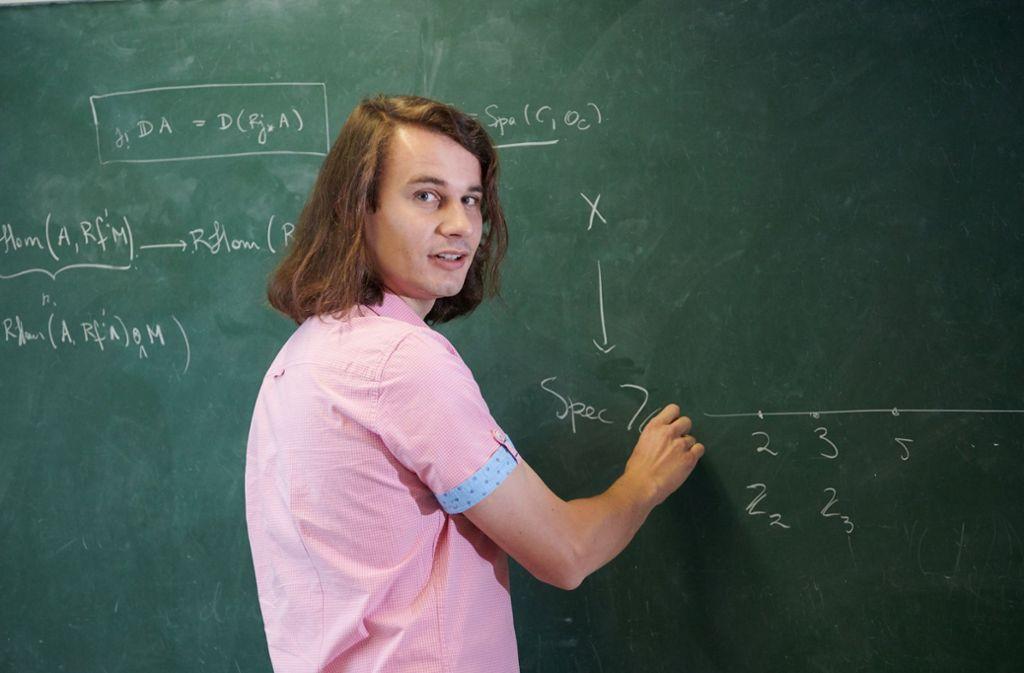 Neben Peter Scholze wurden drei weitere Mathematiker ausgezeichnet. Foto: Universität Bonn