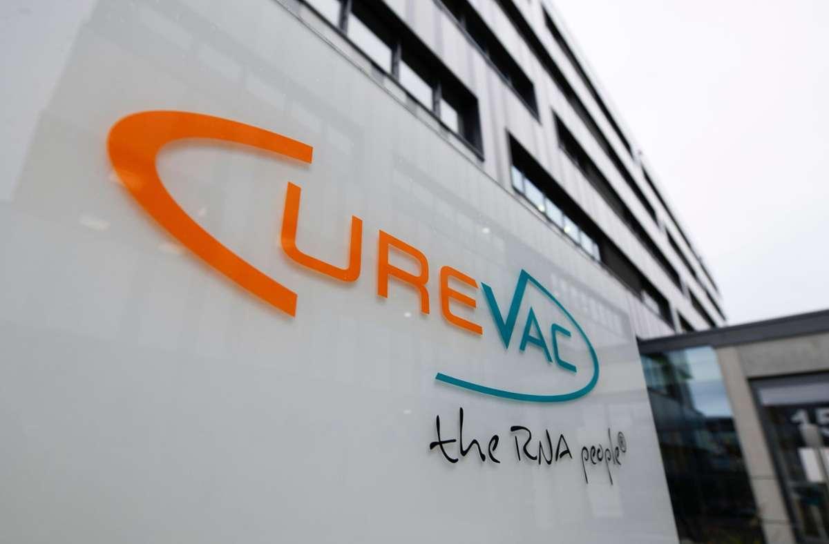 Biotech-Unternehmen Curevac aus Tübingen. (Archivbild) Foto: AFP/THOMAS KIENZLE