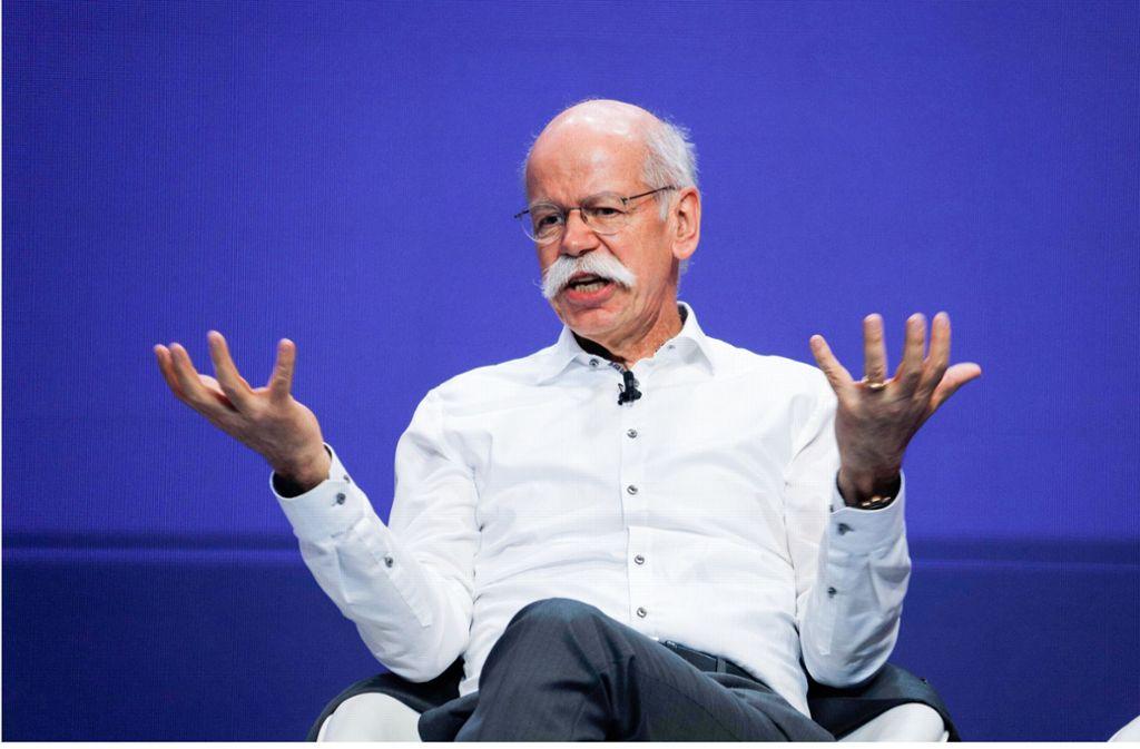 Daimler-Chef Dieter Zetsche über die Zukunft der Automobilbranche. Foto: dpa