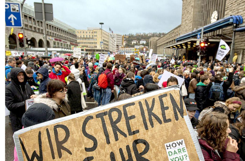 Die Fridays-for-Future-Demonstrationen haben zwar keinen Klimanotstand in Stuttgart ausgelöst, aber eine Zukunftsdebatte angestoßen. Foto: Lichtgut/Leif Piechowski