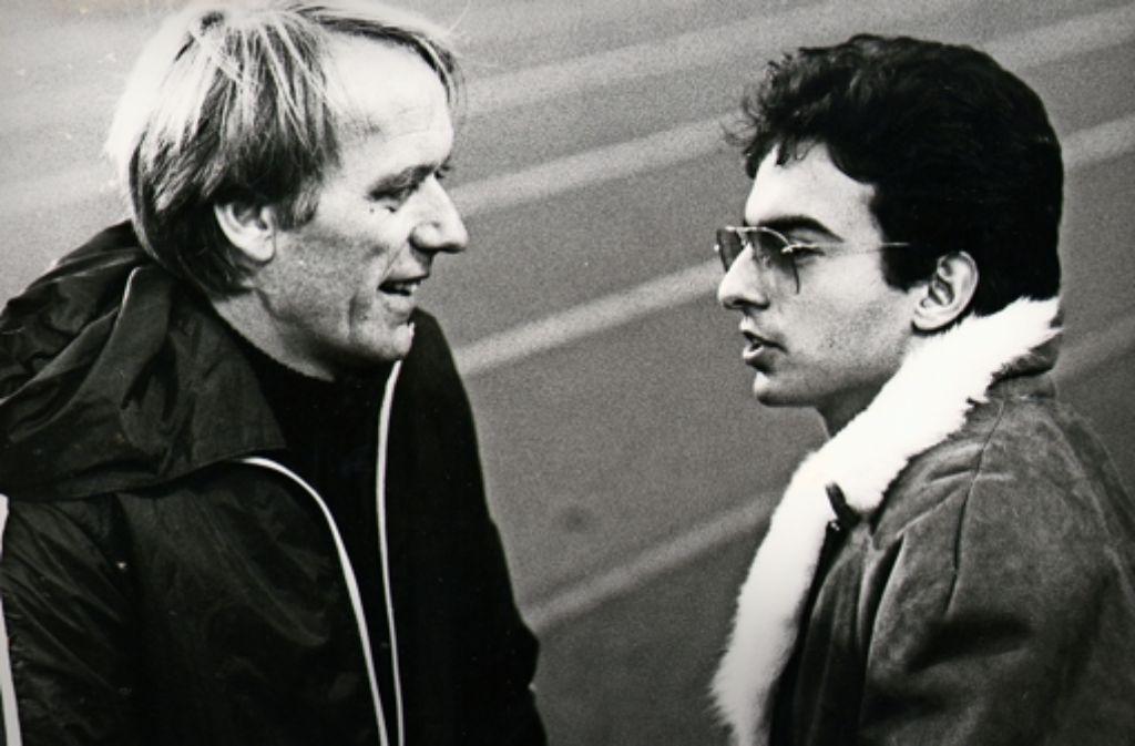 Der ehemalige VfB-Arzt Winfried Laschner mit Exprofi Hansi Müller. Foto: Rudel