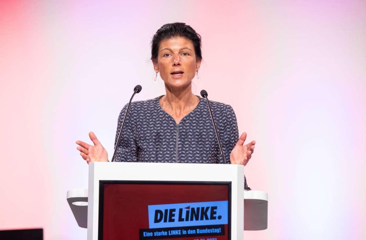Am Wochenende wurde Sahra Wagenknecht in NRW zur Spitzenkandidatin der Linken für die Bundestagswahl erkoren. Doch nicht alle in der Partei jubeln ihr zu. Foto: dpa/Marcel Kusch