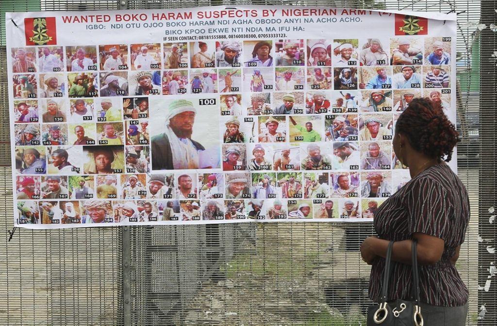 Die nigerianische Armee fahndet nach Menschen, die verdächtigt werden, Boko Haram anzugehören. Foto: EPA
