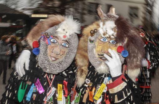 Die Urzeln feiern die Fasnet auf ihre eigene Art