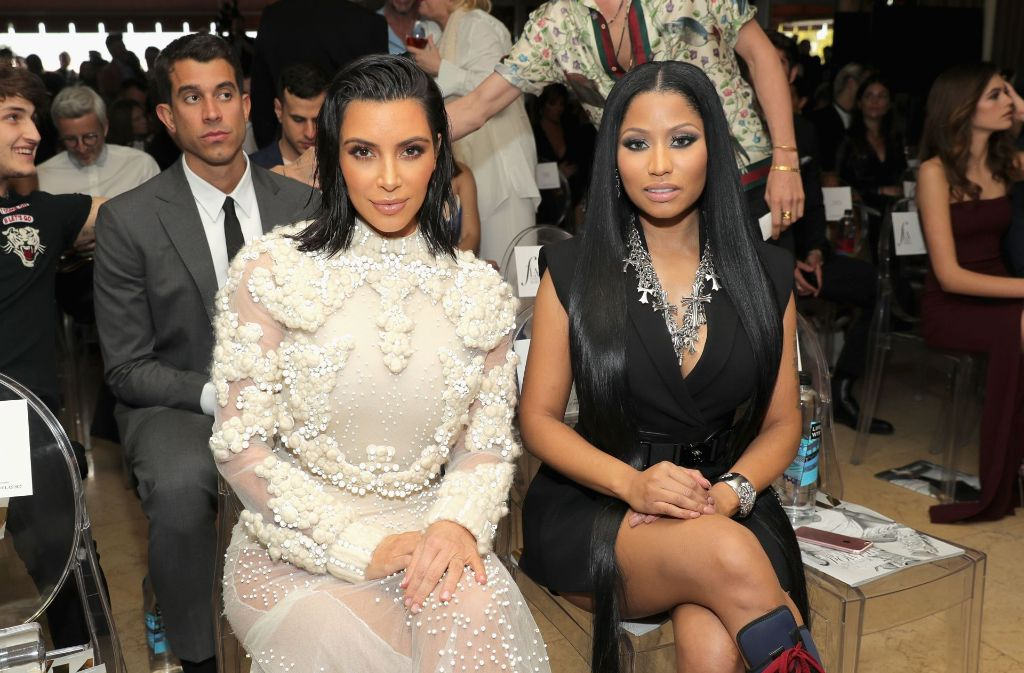 Kim Kardashian West und Nicki Minaj auf der Annual Fashion Los Angeles Awards. Foto: GETTY IMAGES NORTH AMERICA