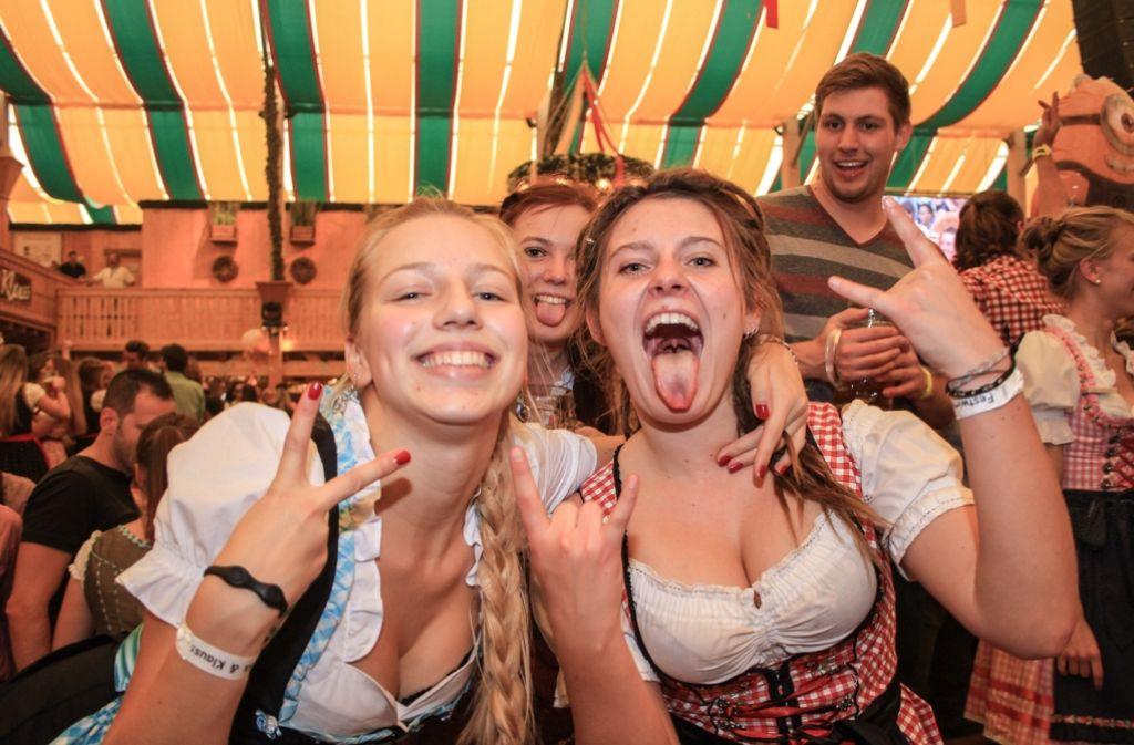 Das Partyvolk wurde am Samstag auf dem Cannstatter Volksfest nicht enttäuscht. Foto: 7aktuell.de/David Skiba