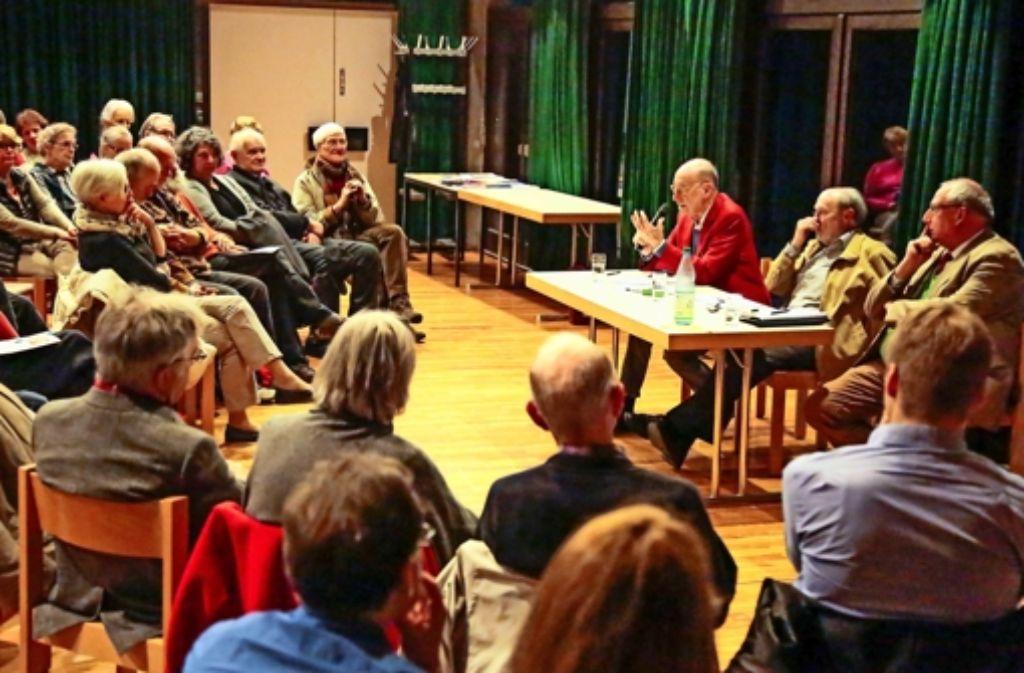 Volles Haus im Steckfeld: Viele haben sich für das Thema Flüchtlinge interessiert. Foto: Jansen