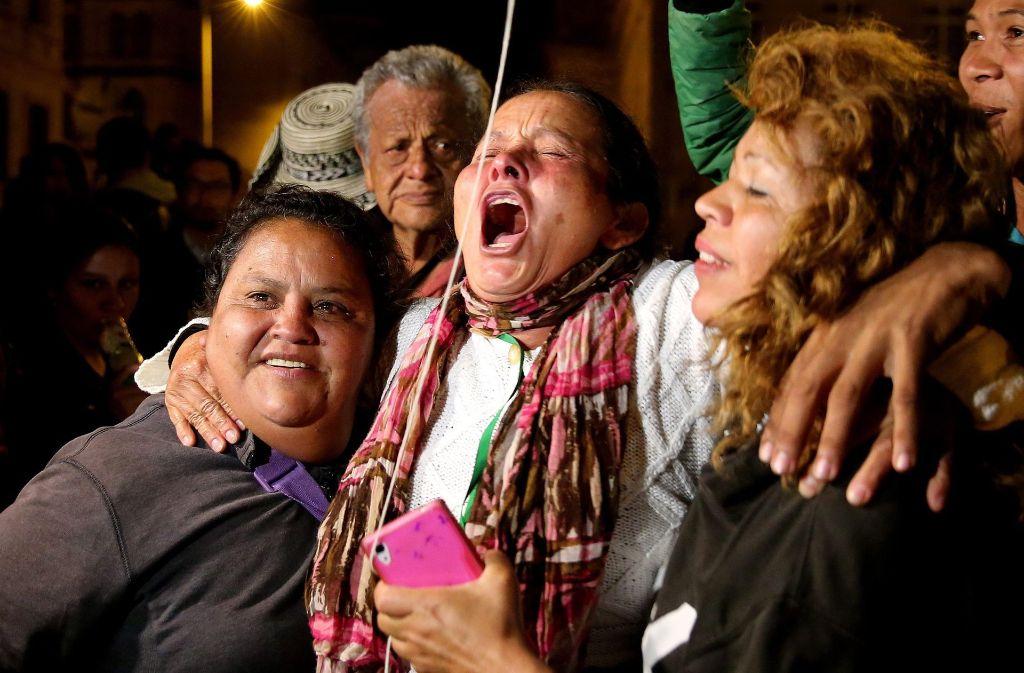 Freude in Kolumbien über den neuen Friedensvertrag mit den Guerillas. Foto: EFE