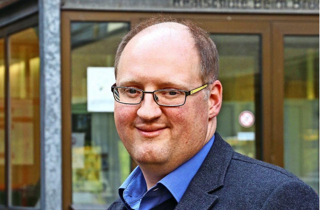 Eiko Schwalbe ist seit diesem Schuljahr der Rektor der Gerlinger Realschule. Dort hat er schon seine Ausbildung zum Lehrer gemacht. Foto: factum/Granville