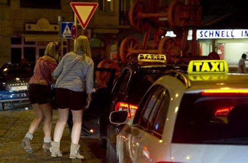 Taxifahrer bestreiken Wasen
