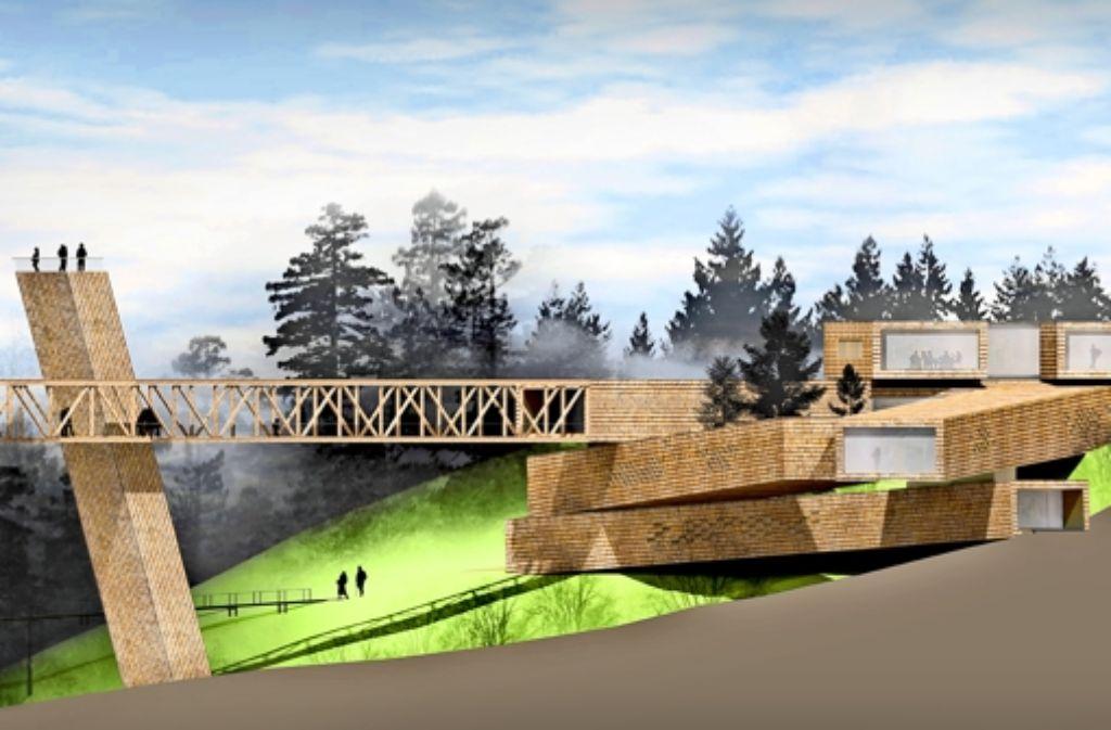 Attraktion in Holz: das  künftige Besucherzentrum des Nationalparks Foto: bloomimages