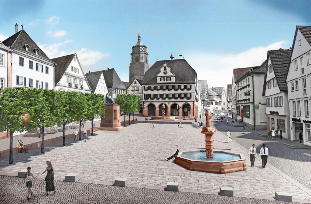 Ein Blick in die Zukunft: So soll der Weiler Marktplatz aussehen. Foto: Stadt Weil der Stadt