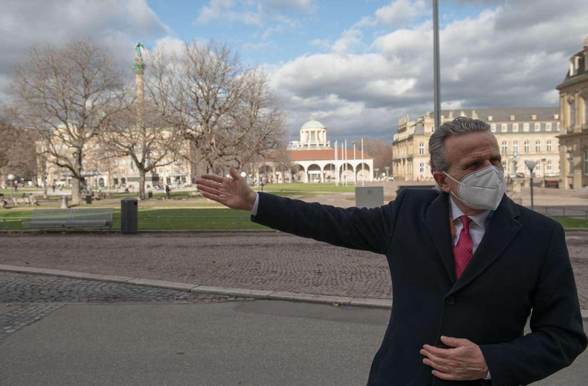 Oberbürgermeister Frank Nopper plädiert für die Wiederbelebung der Stadt. Foto: Lichtgut/Leif Piechowski