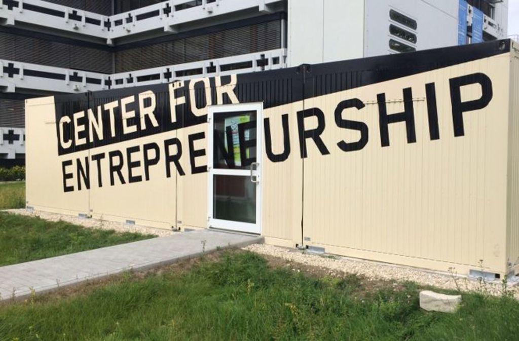 Die Container für Startups an der Hochschule Reutlingen sind stark nachgefragt. Foto: Hochschule Reutlingen