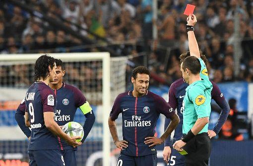 PSG-Superstar Neymar fliegt vom Platz