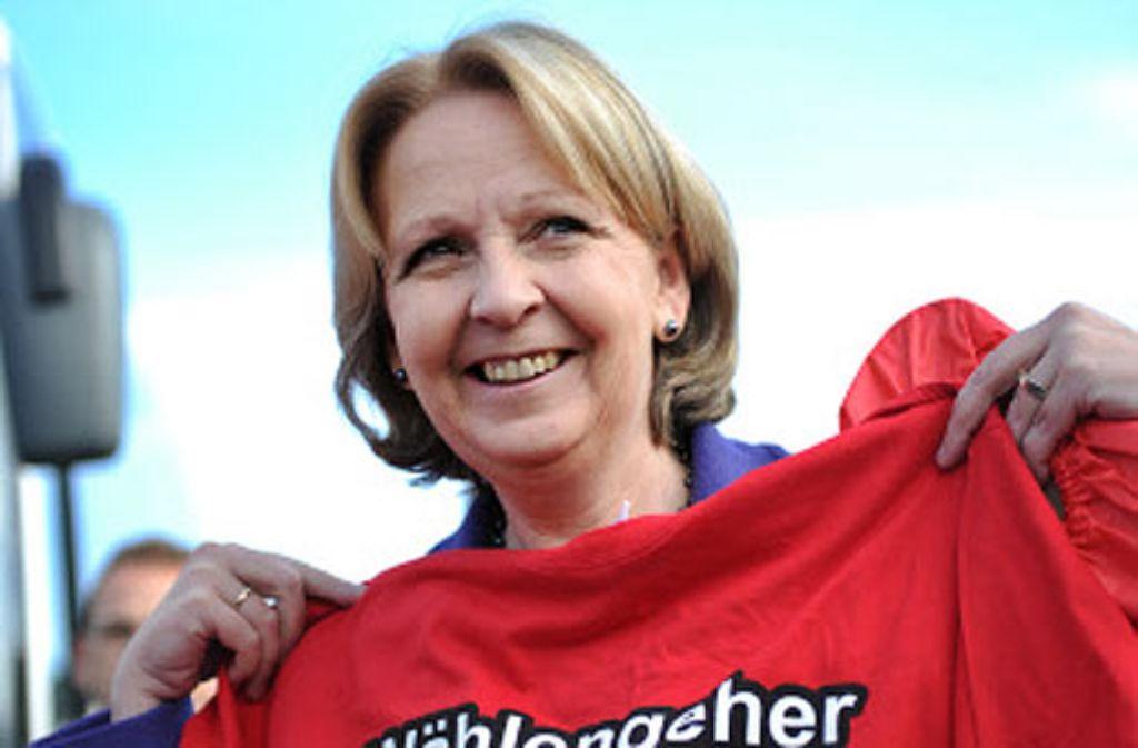 Hannelore Kraft von der SPD liegt laut Umfragen im Aufwärtstrend. Foto: dpa