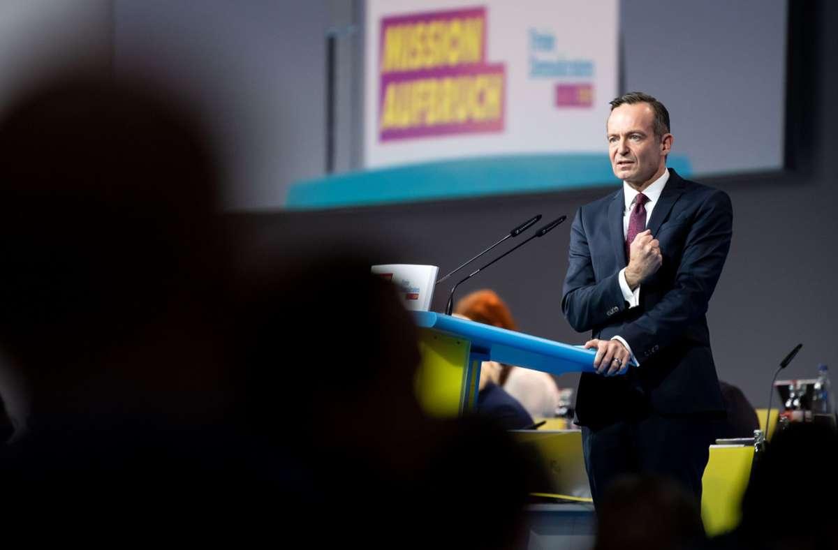 Volker Wissing ist neuer FDP-Generalsekretär. Er beschwor in seiner Antrittsrede die klassischen Positionen des Wirtschaftsliberalismus. Foto: dpa/Bernd von Jutrczenka