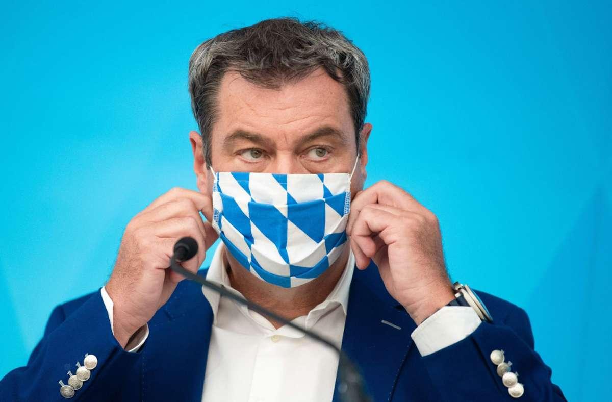 CSU-Chef Markus Söder ist gegen weitere Corona-Lockerungen. (Archivbild) Foto: AFP/NICOLAS ARMER
