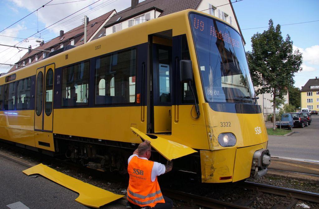 Am Mittwochnachmittag ist es in Stuttgart-Wangen zu einem Unfall mit einer Stadtbahn gekommen. Foto: SDMG