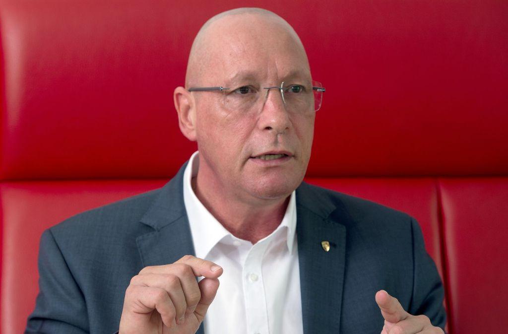 Porsche-Betriebsratschef Uwe Hück kritisiert die Konzernschwester Audi. Foto: dpa