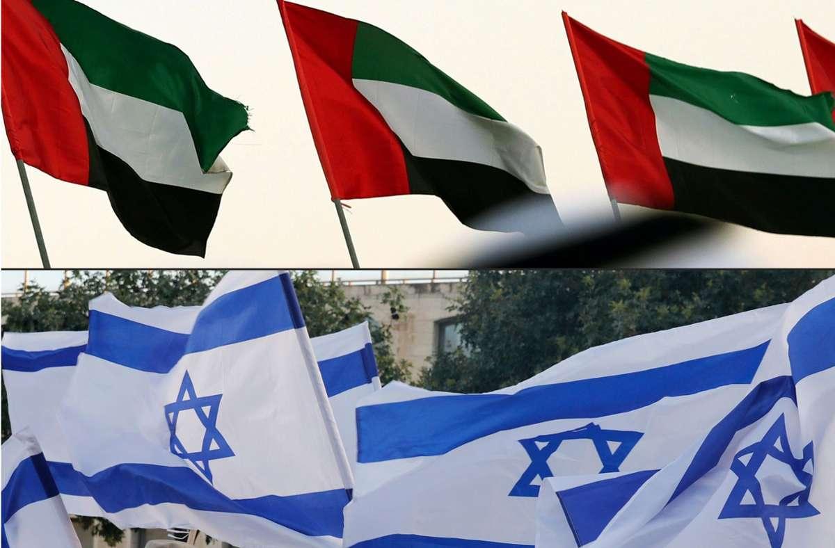 Israel und die Vereinigten Arabischen Emirate wollen ihre Beziehungen vollständig normalisieren. Foto: AFP/KARIM SAHIB