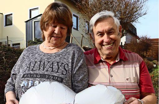 Die frisch vermählten 80-Jährigen