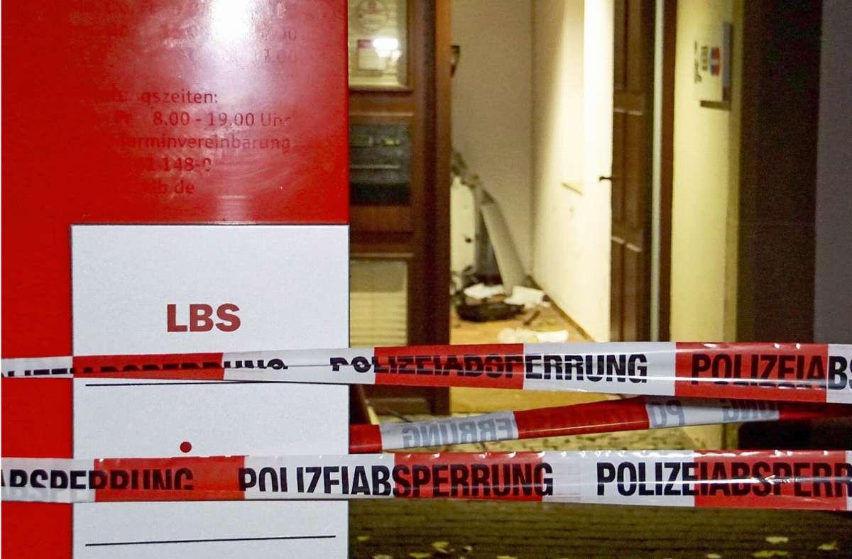 Der Tatort: Die Bank in Erligheim. Foto: dpa/Hemmann