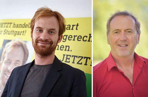 Kandidat Hannes Rockenbauch im Fragenhagel