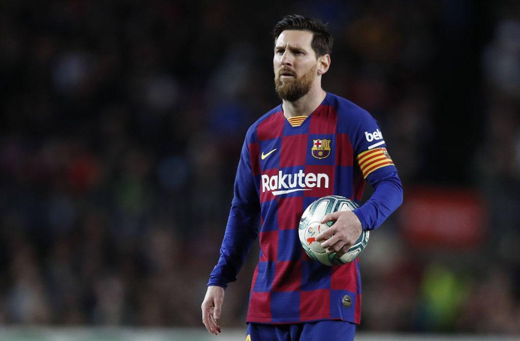 Lionel Messi vom FC Barcelona zeigt sich ob der Corona-Krise sehr bewegt. Foto: imago images/ZUMA Wire/Eric Alonso via www.imago-images.de