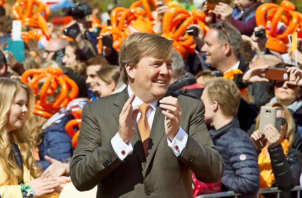 König Willem-Alexander: Sein Geburtstag am 27. April ist gleichzeitig Nationalfeiertag der Niederland. Foto: dpa/Peter Dejong